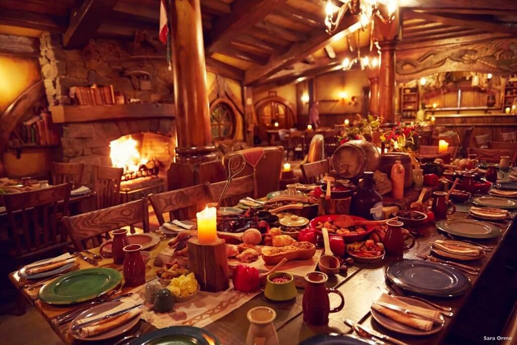 مقهي قرية الهوبيت و الذي ظهر في فيلم The Hobbit