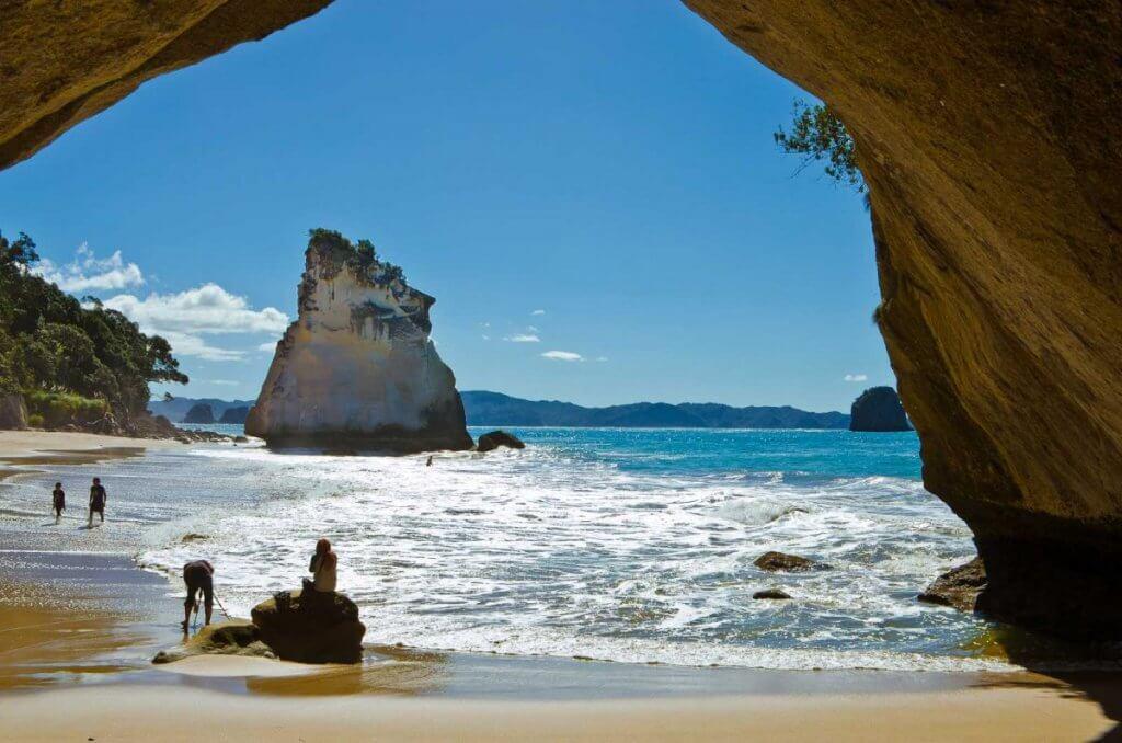 شاطئ في منطقة Coromandel